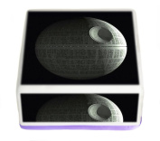 Star Wars The Death Star Icing7.13cm Inch Square Edible Pre Cut Cake Topper - Printed using Edible Inks on Premium Icing- With FREE Banner Included!