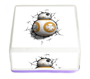 Star Wars The Force Awakens BB-8 Droid 19cm Inch Square Edible Pre Cut Cake Topper - Printed using Edible Inks on Premium Icing- With FREE Banner Included!