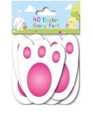 40 Easter Bunny Feet Kids Party Game Egg Hunt Rabbit Footprints Reusable 11cm