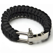"""Generic Outdoor Paracord Survival Bracelet with Adjustable Stainless Steel D Shackle,Fits 7""""-8"""" (18-20 cm) Wrists"""