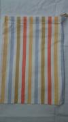 Drawstring Bag 'Stripes' in pastel shades, 25cm x 35cm
