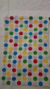 Drawstring Bag in Polka Dots, Bright colours, 25cm x 35cm