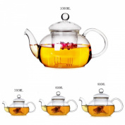 KING DO WAY Heat Resistant Glass Teapot With Infuser Coffee Tea Pot Leaf Herbal Clear 350ml