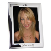 MUMMY Silver Plated 5 x 7 Photo Picture Frame with Butterflies Great Gift for Birthday Christmas Xmas Mothers Day Present