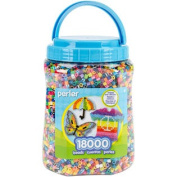 Perler Fun Fusion Bead Jar 18000Count Package - Multicolor