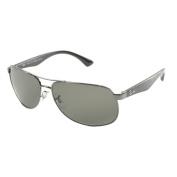 Ray Ban Men's Gunmetal Metal Aviator Polarised Sunglasses