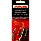 Janome Convertible Free Motion Quilting Foot Set Memory Craft Emb Machines & High Shank Models