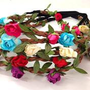 Grab Bag : Set of 5 Mix Colour Mini Flower Crown Headband /Halo/coachella /Edc /Hippie Flower Headband /Garden Party / Wedding