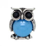 5pcs Alloy 18mm Owl Button Snap Fastener Interchangeable Jewellery Accessory for Bracelet Jewellery Making
