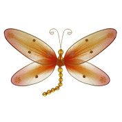 The Butterfly Grove Taylor Dragonfly Decoration 3D Hanging Mesh Organza Nylon Decor, Orange Creamsicle, Small, 13cm x 10cm