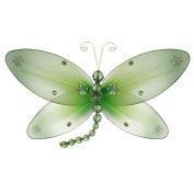 The Butterfly Grove Taylor Dragonfly Decoration 3D Hanging Mesh Organza Nylon Decor, Green Honeydew, Medium, 25cm x 15cm
