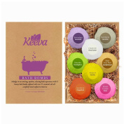 Keeva 8 Bath Bombs Gift Set - Best Ultra Lush 120ml Luxury Bath Bombs - Infused With Over 21 Essential Oils & Natural Ingredients - Carefully Hand-Crafted in the USA - Amazing Gift Idea!