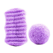 YX Beauty Artisan Konjac Sponge All Natural Japan Facial And Body Sponge with Activated Bamboo Charcoa