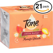 (PACK OF 21 BARS) Tone Soap Bath Bar, Mango Splash. COCOA BUTTER, BOTANICALS & VITAMIN-E. Rich & Creamy Lather! Great for Hands, Face & Body!