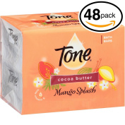 (PACK OF 48 BARS) Tone Soap Bath Bar, Mango Splash. COCOA BUTTER, BOTANICALS & VITAMIN-E. Rich & Creamy Lather! Great for Hands, Face & Body!