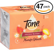 (PACK OF 47 BARS) Tone Soap Bath Bar, Mango Splash. COCOA BUTTER, BOTANICALS & VITAMIN-E. Rich & Creamy Lather! Great for Hands, Face & Body!