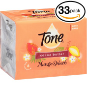 (PACK OF 33 BARS) Tone Soap Bath Bar, Mango Splash. COCOA BUTTER, BOTANICALS & VITAMIN-E. Rich & Creamy Lather! Great for Hands, Face & Body!