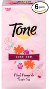 Tone Petal Soft Pink Peony & Rose Oil Soap Bars 6 Bath Bars 120g Each 1.59lbs