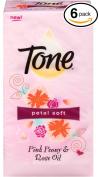 Tone Petal Soft Pink Peony & Rose Oil Soap Bars 6 Bath Bars 120g Each 1.59lbs
