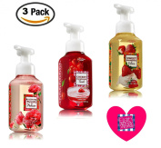 Spring Romance Soap Collection (Set of 3) Strawberries and Cream + Cherry Champagne Toast + Blushing Tulips and Peonies -- Bath & Body Works Gentle Foaming Hand Soaps for Spring 2016