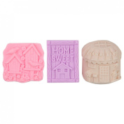 Lily's Home Shea Butter Enriched Scented Guest Soap Gift Set - Includes Three Designs of Home Sweet Home Soap Bars