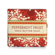 Greenwich Bay Peppermint Frost Shea Butter Soap - Enriched with Peppermint Oil & Shea Butter - 190ml Holiday Vegetable Soap Bar