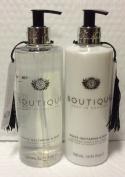 Boutique White Nectarine & Pear Hand Wash 500ml and Softening Hand & Nail Cream 500ml