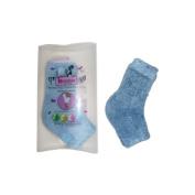 Kissable Spa Socks Moisturising Chenille Heel Socks, Blue