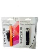 Sassy + Chic-Nail Clipper with 2 Emery Boards & Toenail Clipper-Total 4 Items