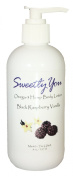 Black Raspberry Vanilla Scented Omega-3 Hemp Body Lotion by Sweetly You - 240ml Hemp, Grapeseed, Sweet Almond and Sunflower oils that are cold pressed to retain their natural goodness. Includes Shea Butter and Aloe Vera.