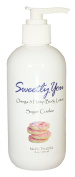 Sugar Cookie Scented Omega-3 Hemp Body Lotion by Sweetly You - 240ml Hemp, Grapeseed, Sweet Almond and Sunflower oils that are cold pressed to retain their natural goodness. Includes Shea Butter and Aloe Vera.