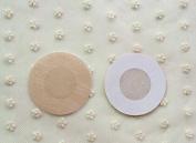 Healthcom 20 Pcs Womens Adhesive No Show Disposable Breast Nipple Disposable Breast Petal Pasties,