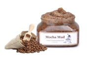 Mocha Mud Scrub Handmade Body Scrub -Natural Exfoliants of Sugar & Coffee Combined with Moroccan Lava Clay Creating a Mud Mask