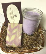 ORGANIC LAVENDER SOAP & CANDLE GIFT SET