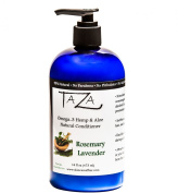 Premium Taza Natural Omega-3 Hemp & Aloe Rosemary Lavender Conditioner, 470ml ♦ For Healthy Hair ♦ Contains