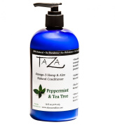 Premium Taza Natural Omega-3 Hemp & Aloe Peppermint Tea Tree Conditioner, 470ml ♦ For Healthy Hair ♦ Contains
