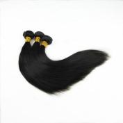 Iloveihair 100% Unprocessed Virgin Indian Human Hair Weaves Silky Straight 3 Bundles for Black Women