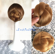 Bridal Braided Clip in Hair Bun Extension Wedding Hair Pieces Chignon Tray Ponytail J-85