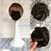 Bridal Braided Clip in Hair Bun Extension Wedding Hair Pieces Chignon Tray Ponytail J-76