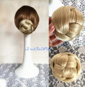 Bridal Braided Clip in Hair Bun Extension Wedding Hair Pieces Chignon Tray Ponytail J-18