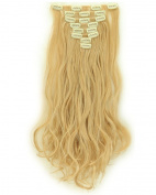 S-noilite A+ 1.8cm Real Natural Soft Curly 170g 8 Pieces Full Head Clip in Hair Extensions for Girl Lady Women