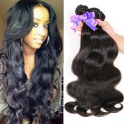 SATAI Remy Human Hair Weft Weave 8-80cm Body Wave 3 Bundles #1b Virgin Indian Hair