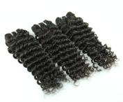 Iloveihair 100% Natural Peruvian Human Hair Weaves Deep Wave Hair Extensions 3pcs/unit Natural Black Colour
