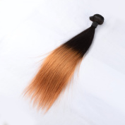 Premier Crown Hair Brazilian Virgin Ombre Hair Weft 100% Unprocessed Virgin Straight Human Hair Extensions (100+/-5g)/pc
