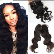 LUFFY 7A Virgin Hair Lace Closure 4x 4 Brazilian Body Wave Closure Human Hair With Bleached Knots Free Middle Part or 3 Part Closures