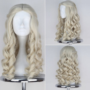 Miss U Hair Alice White Queen Wig Women Girl's Long Blonde Curly Movie Cosplay Wig