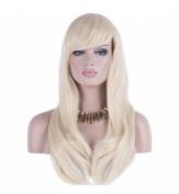 Women 70cm Long Heat Resistant Wavy Hair Cosplay/daily Wig(light Golden)