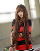 Yontree 80cm Fashion Long Wavy Curly Wigs Party Hair Cosplay Wigs