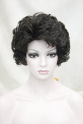 Kalyss Women's Full Curly Heat Resistant Imported Synthetic Black Brown Hair Wig