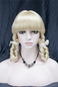 Kalyss Women's High Quality Heat Resistant Synthetic Ponytails Blonde Hair Wig